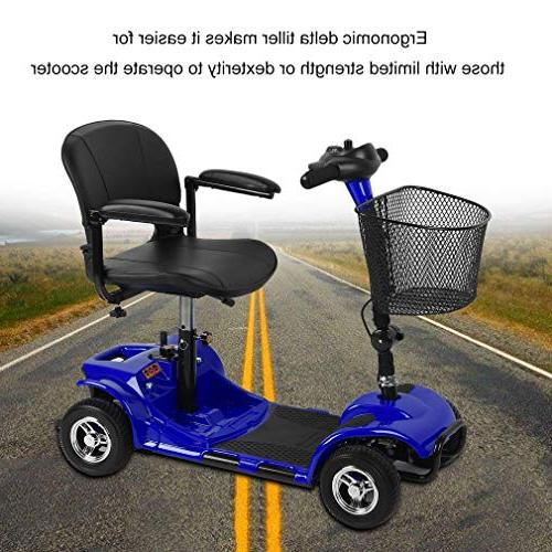 Simoner Travel Power Folding Transportable Electric Scooter Bike Including Batteries-Great Gift for Disabled