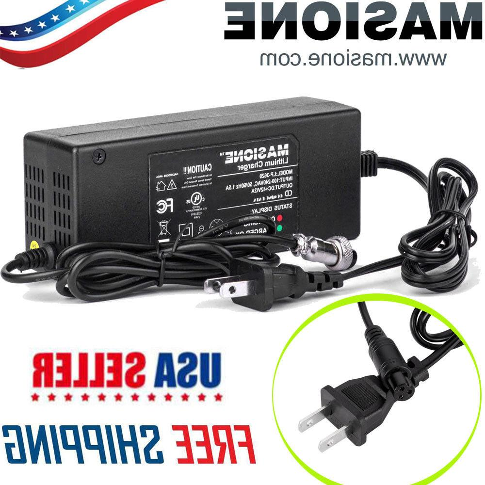 42v 2a battery charger ac adapter cord