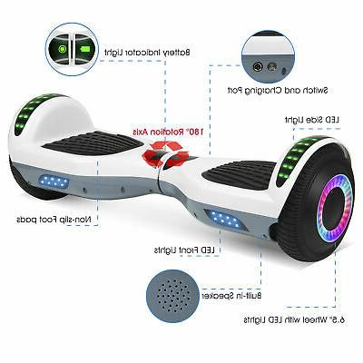 "6.5"" Bluetooth Self Balancing No Bag Scooters"