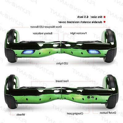 6.5'' Chrome Hoverboard Self Balancing UL2272+Bluetooth/LED/Bag
