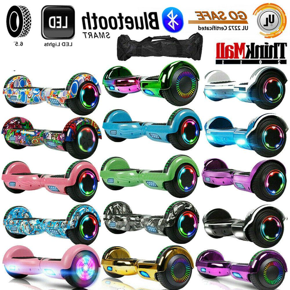 6 5 electric hoverboard self balancing led