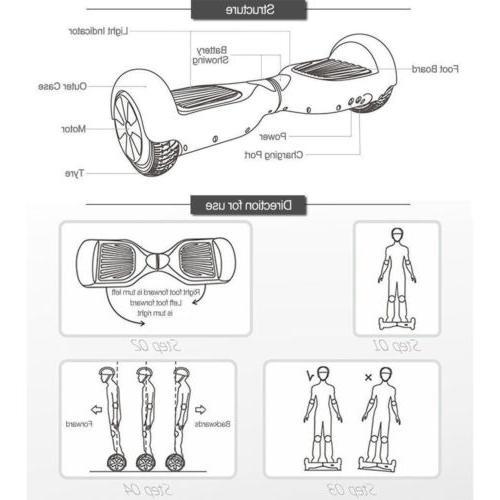 "6.5"" skateboard Electric Self Balancing LED Lights Scooter"