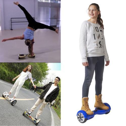 "6.5"" skateboard Electric Self Balancing LED Scooter skate"