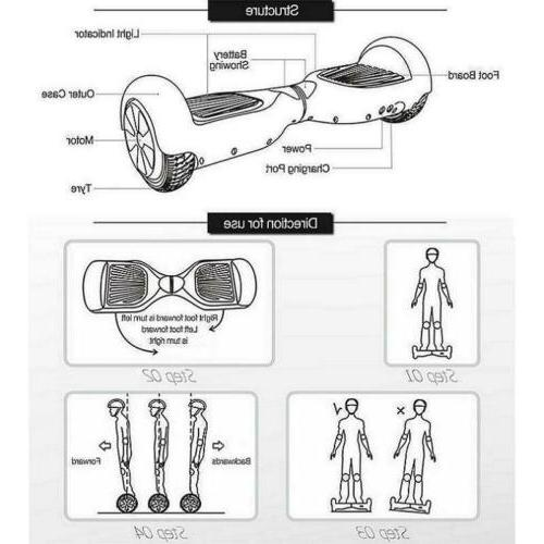 """6.5"""" Off Road Hoverboard Self Balancing Electric Scooter All UL"""