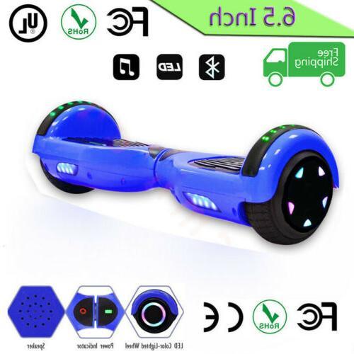 """6.5"""" skateboard Balancing LED Speaker Scooter Board@1"""