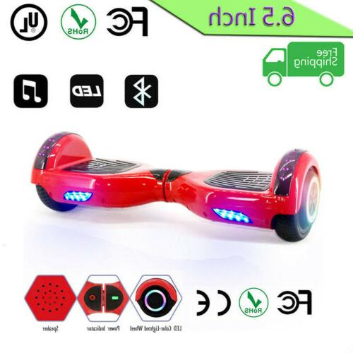 "6.5"" skateboard Electric Balancing Lights Scooter"