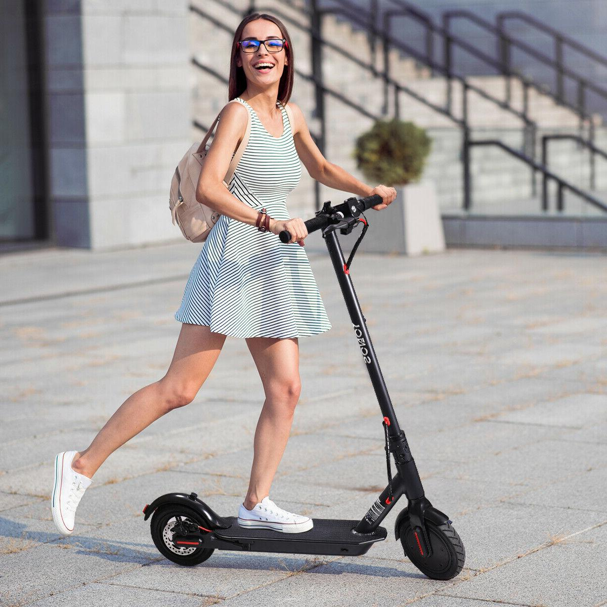 "8.5"" 350W Folding Scooter Kick E-Scooter W/Helmet"