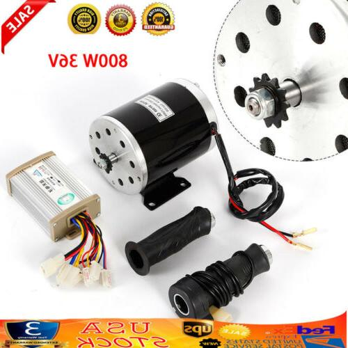 800W 36V Electric Scooter motor kit w control box and Throttle Fit Go-Kart  eBike