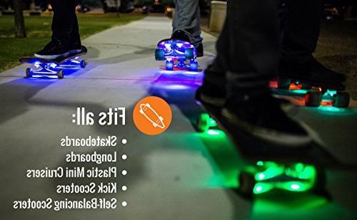 Board Blazers, Original LED Lights Skateboards, Self Scooters Kick