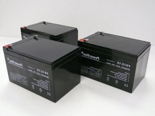 POWERSTAR 3 Pack - Replacement Battery for Razor MX500 MX 50