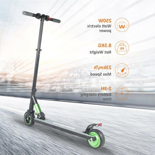 Adult Electric Scooter 250W Adjustable Portable Support