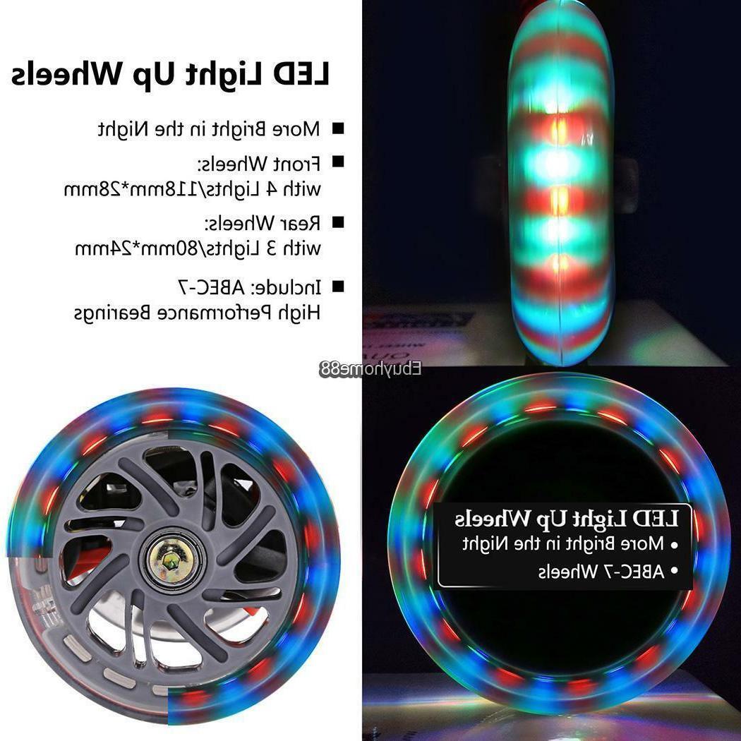 Age 3-12 Kid Girls LED Wheel