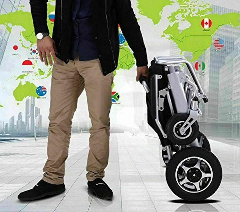 air travel lightweight fold electric power wheelchair