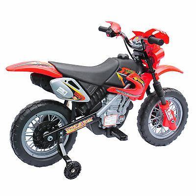 "6V 40.2"" Ride-On Motorcycle Dirt Bike"