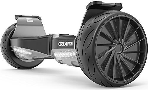 "EPIKGO Sport Self Balancing -UL2272 All-Terrain 8.5"" Racing Wheels, 400W Dual-Motor,LG Battery, Board Over Tough"
