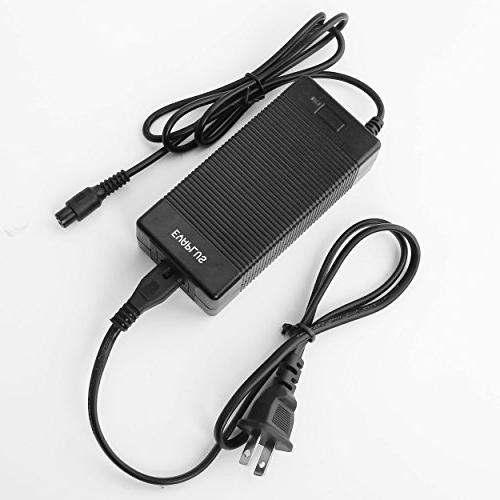 EVAPLUS Battery 1.5A Power Adapter 3-Prong Adapter-Black