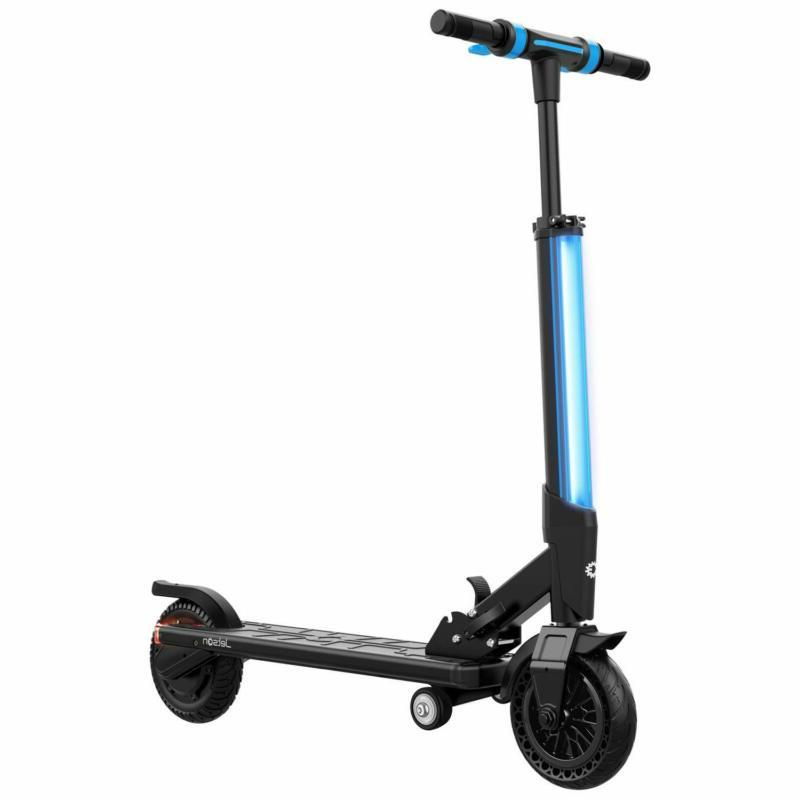 bio folding electric scooter with bright led