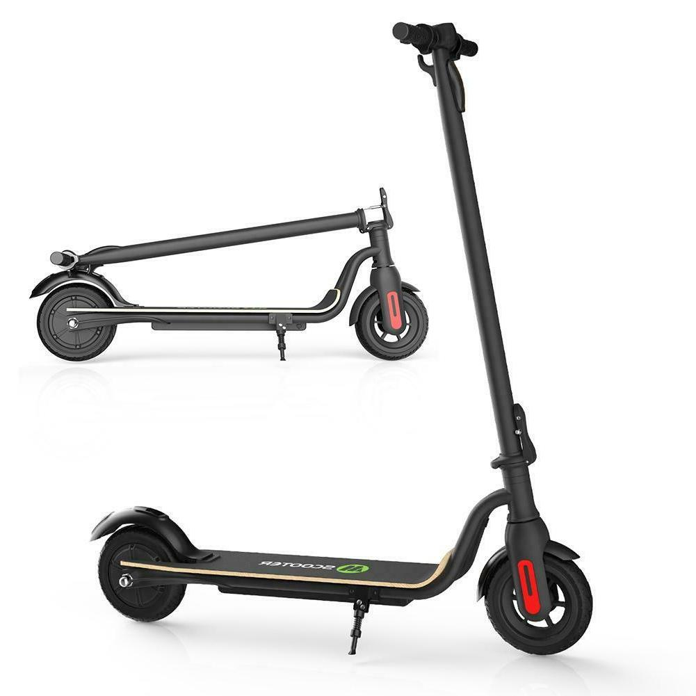 Black Foldable Electric Scooter Ultra-Lightweight Kick