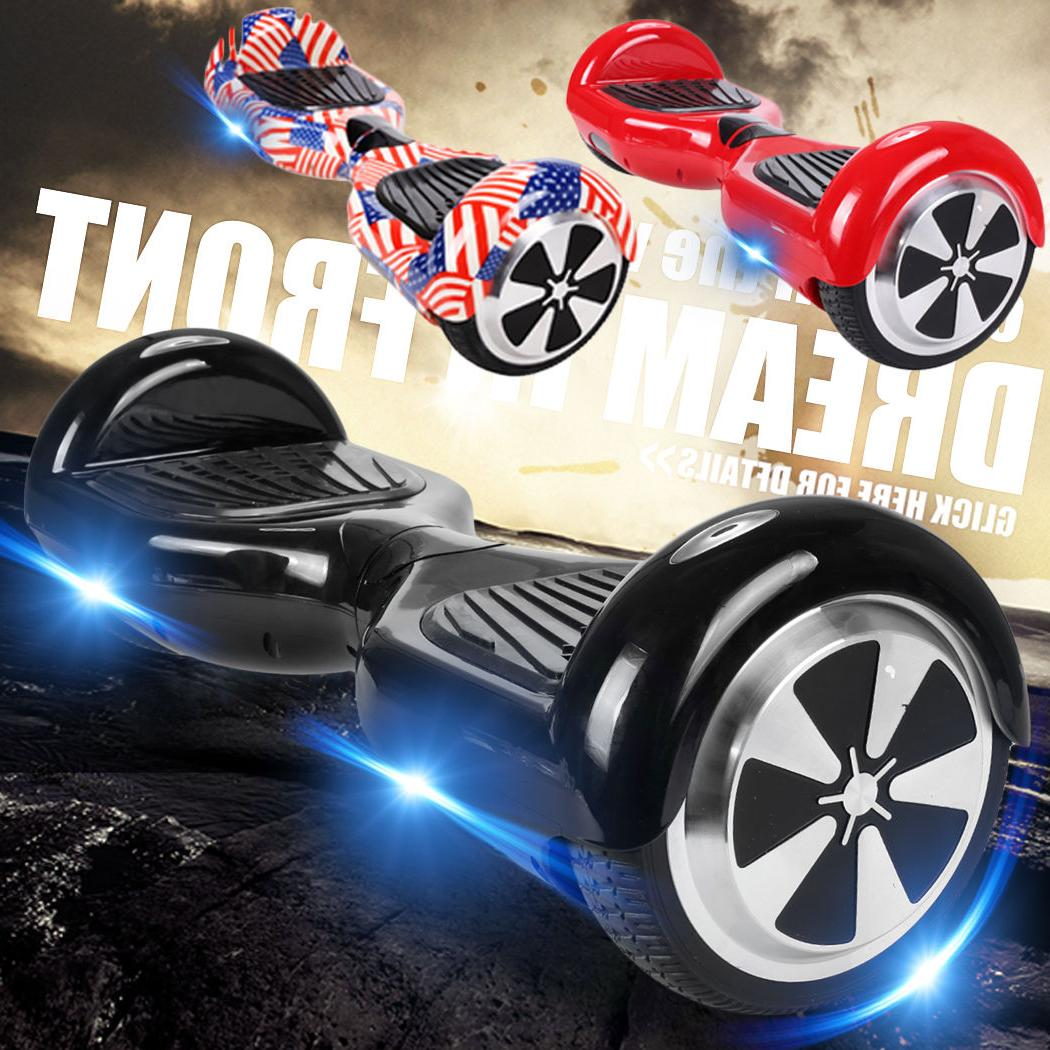 """Bluetooth Hoverboard 6.5"""" LED Flash Self Electric UL"""