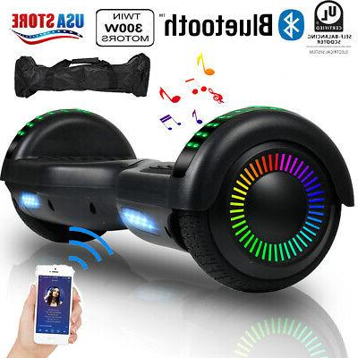 bluetooth hoverboard for kids led electric scooter