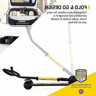 SWAGTRON 3-Wheel Folding E-Scooter Throttle Handbrakes 15.5 MPH