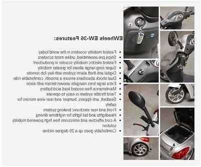 EW-36 Mobility Scooter, Electric 3 Wheel Cart, lb