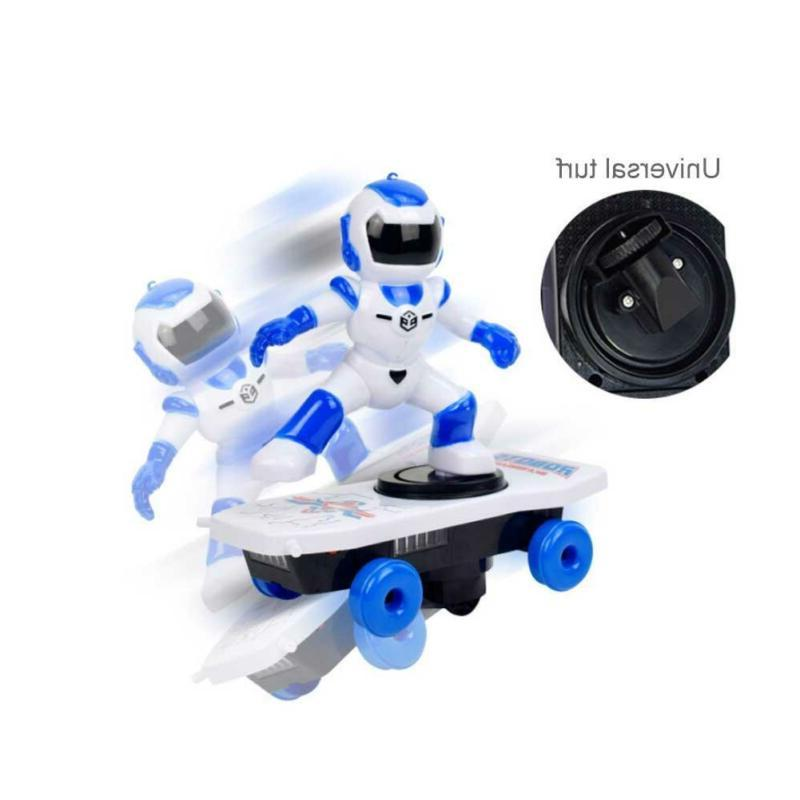 Children's stunts light music Robotic electric scooter toys