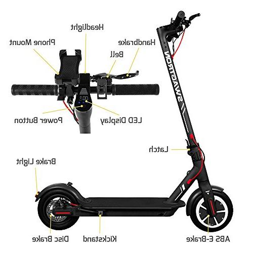 "SWAGTRON City Electric Scooter, 18mph 8.5"" Run Flat Cushioned Tires, Cruise APP - Elite Official of The Chicago Cubs"
