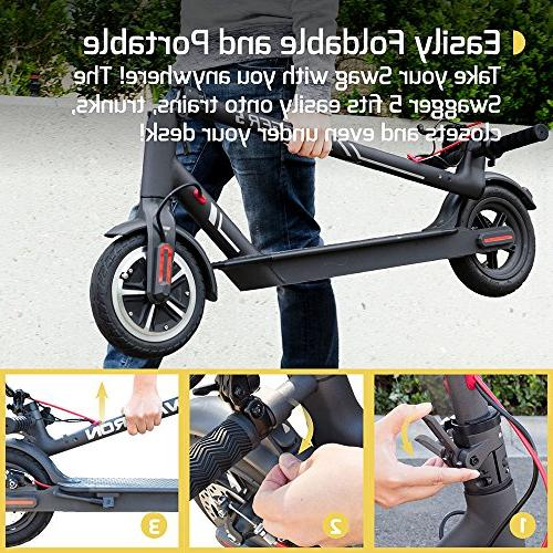 SWAGTRON City Electric Scooter, 18mph Run Flat Cruise Mount, APP Portable - 5 Official of The Chicago