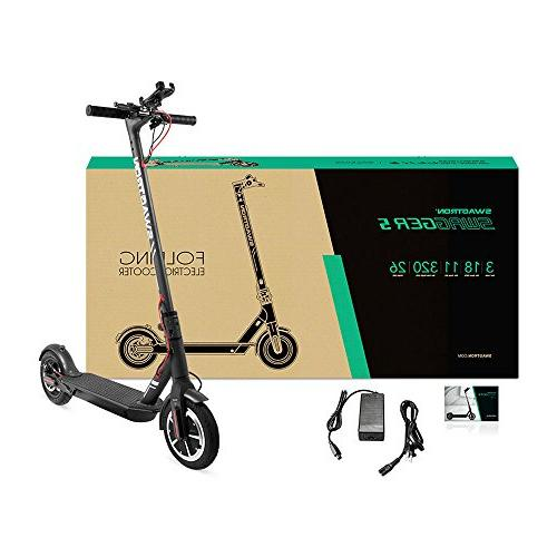 SWAGTRON Electric Scooter, 18mph on Run Cushioned Cruise Control, APP Controlled, - Official of