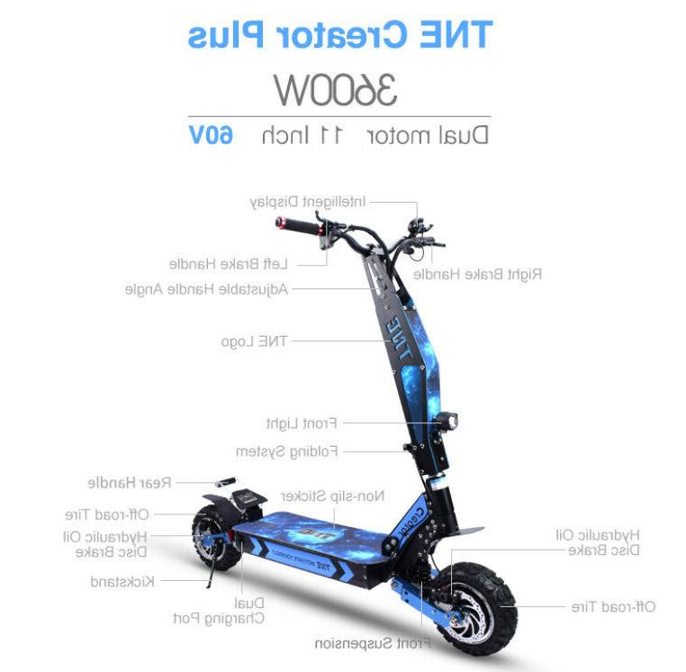 creator plus 3600w electric scooter 60v 26ah