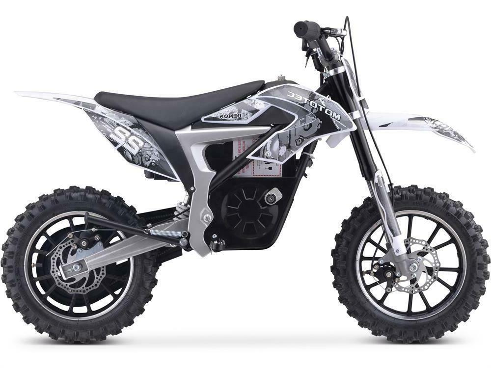 MotoTec Demon Electric Dirt Bike 500w Lithium White