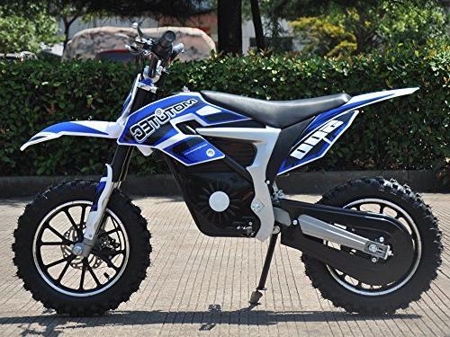 DIGI-MTDIRTLITHIUMBLUE-MotoTec 36v Electric Dirt Bike 500w