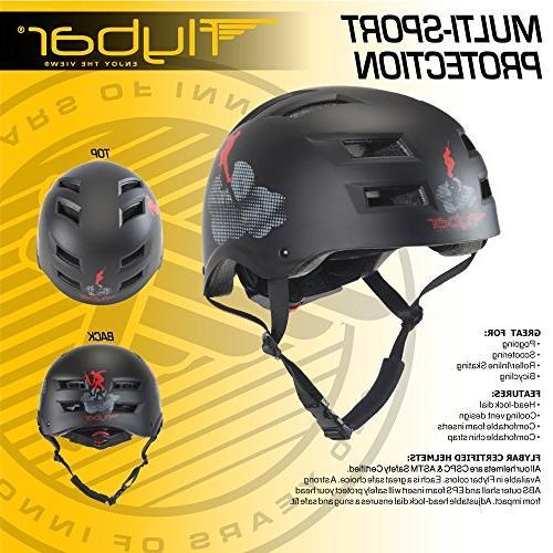 Flybar Stunt Helmet, Black,L/XL