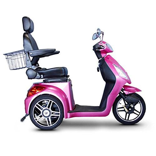 E-Wheels EW-36 3-Wheel Senior Mobility Scooter Pink