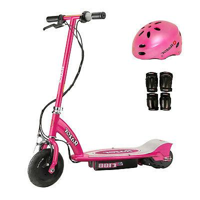 e100 24v electric girls scooter pink