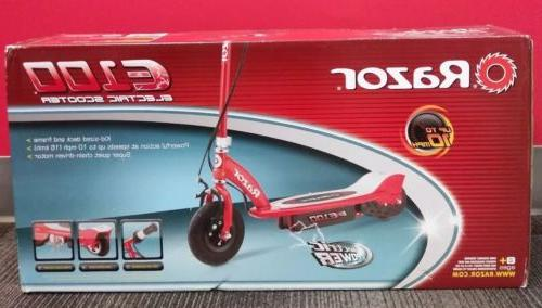 e100 electric scooter in red new
