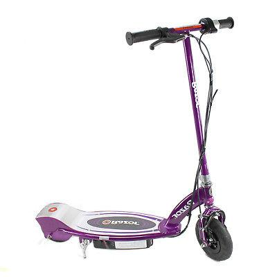 Razor Rechargeable Electric Motor Kids Purple + Helmets