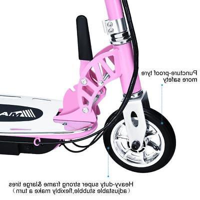 Maxtra Rechargeable Folding Children Pink Motorized Bike