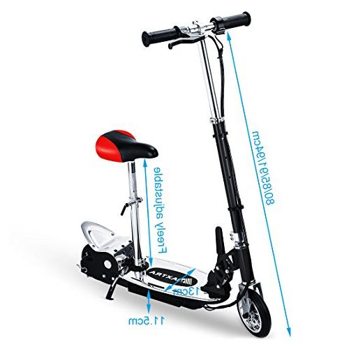 Maxtra E120 Scooter with Seat Weight Capacity Motorized Removable Seat Black