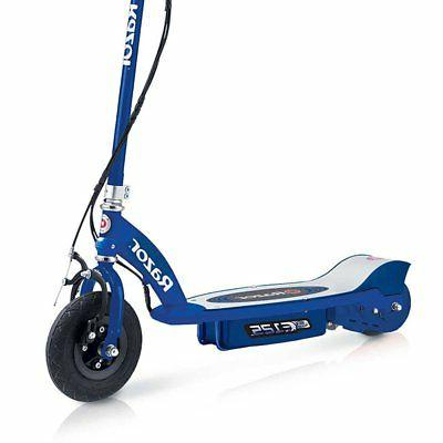 Razor E125 Ride On Motorized Battery Powered Scooter Toy, Blue