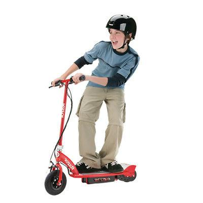 Razor E175 Motorized Rechargeable Electric Kids Scooter, Red