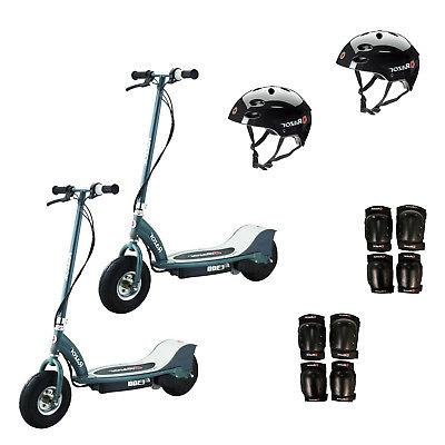 e300 electric rechargeable kids scooters 2 pack