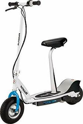 e300s seated electric scooter white blue ffp