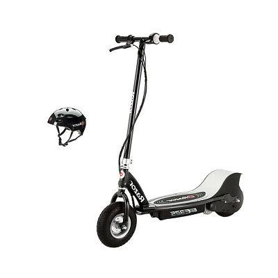 e325 electric rechargable black scooter