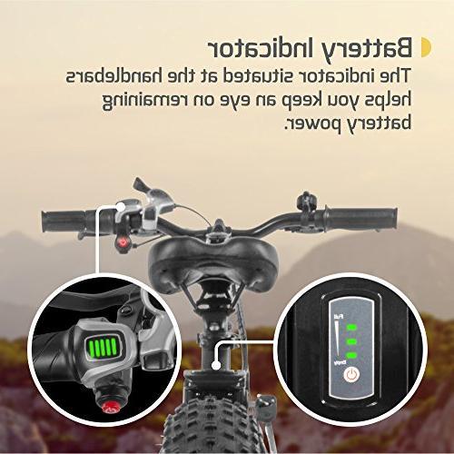 "Swagtron EB-6 Bandit E-Bike 4"" 20"" Removable 36V Battery, Electric Bike SIS Shifting Built Trail Riding"