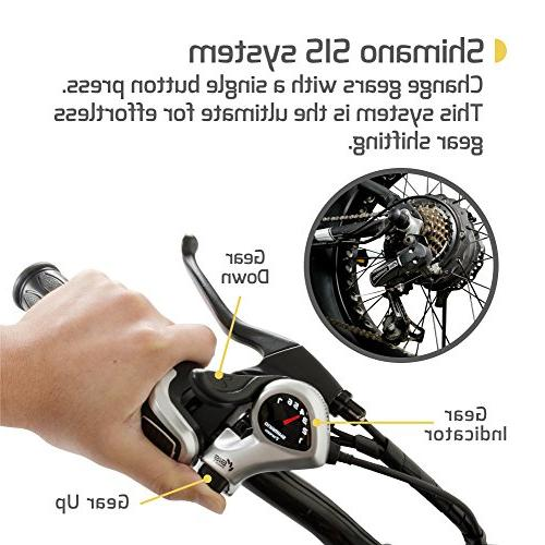 """350W Motor, 4"""" Tires, Removable Battery, Disc Electric Bike SIS Built Trail"""