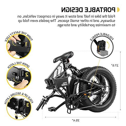Tire Electric – Foldable Off-Road Fat 20-inch Assist, Freehub 7-Speed Gear