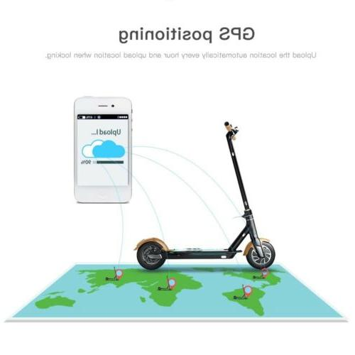 "Electric Folding GPS Omni 8.5"" LED Lights Scooter 500W"