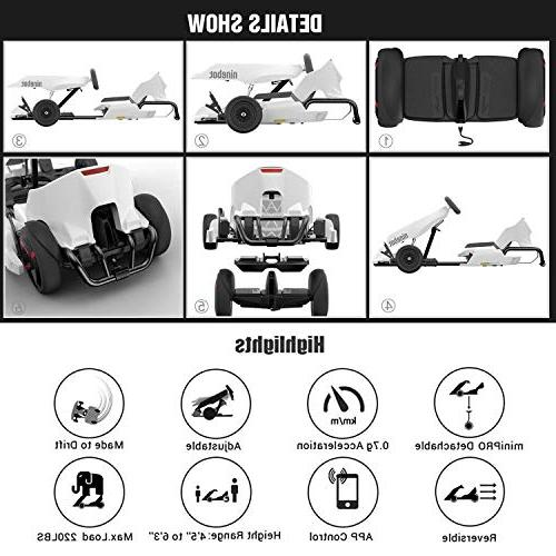 Ninebot Electric for miniPRO , Range, 15 MPH Top Speed, Mobile App Control, Lights Cart